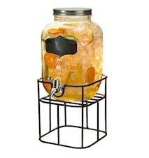 Drikkedispenser i stativ med aftapningskran 4 liter