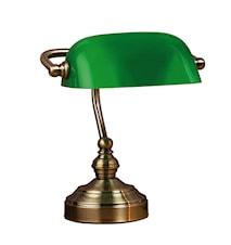 Bankers Bordlampe Grønn 25 cm