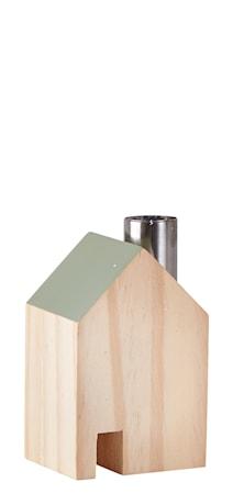 Bild av KJ Collection Figur Hus Metall/Grön 10 cm