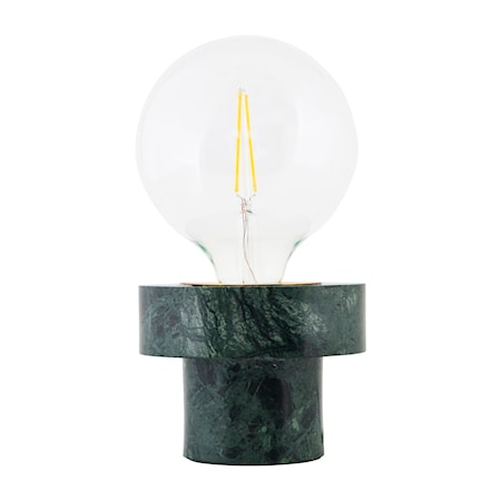Pin Bordslampa Grön Marmor D:13 cm