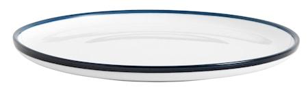 Assiett BLUE RIM Ø 20 cm - Vit/Blå