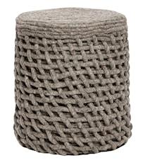 Knitted Round Pouf Sittpuff