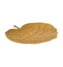 Fat i handmålad plåt, 47 cm, hårdlackat, guldgult