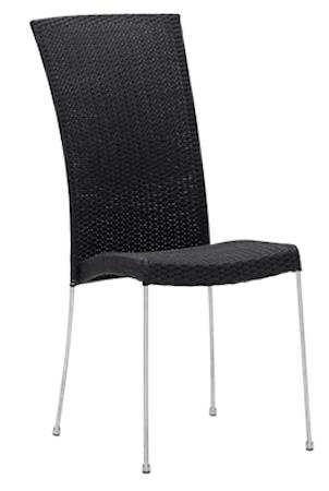 Sika Design Saturn stol - Utan armstöd, svart