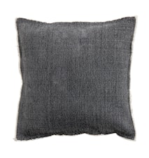 Pudebetræk canvas 45x45 cm - Grå