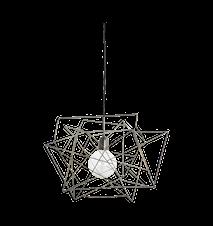 Lampskärm Assymetric 45x45 cm - Metall