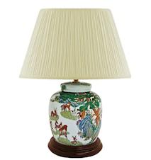 Lampfot, 17,5 cm, Qianlong (1736-1796), hundra hjortar