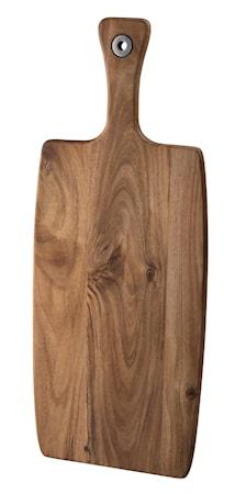 Skärbräda akaciaträ med handtag 52x20 cm