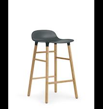 Form Barstol Grön/Ek 65 cm