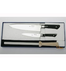 Gaveforpakning 2 kniver & 1 bryne