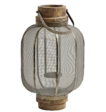 Lanterna Safari metallnät 44 cm - Grå