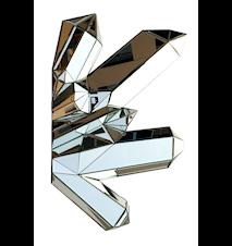 Crystal silver väggdekoration