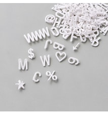 424 pcs. letters/numbers/signs, White,
