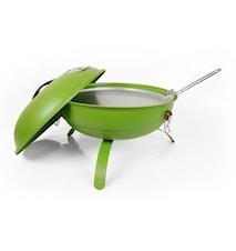 Grill med stekhäll grön