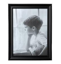Tavelram Glas/Svart 24x18 cm