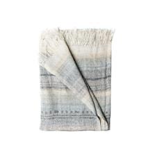 Pläd Thalia 130x170cm naturvit/gråblå