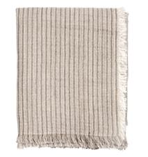 Pläd Stripes Light grey