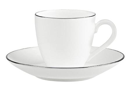 Villeroy & Boch Anmut Platinum No.1 Espressokuppi&vati 2 osaa