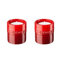 Ljuslyktor, 2-pack, 6 cm - Cerise