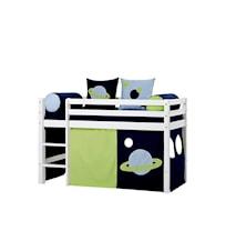 Basic loftsäng halvhög – Space sängpaket