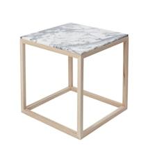 Cube Sidobord Small Marmor - Ek