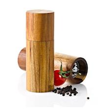 ACACIA - Manuell, keramisk salt-/pepparkvarn i akacieträ liten