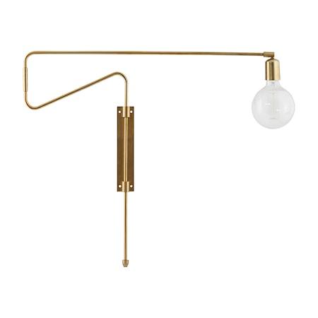 Swing Vägglampa Mässing 70 cm