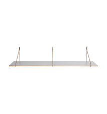 Apart Hylleplan Grå 129x24x1,5 cm