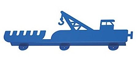 Towie truck klädhängare blå