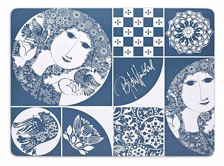 Bordstablett, blå, 29x40 cm