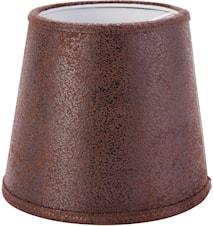 Mia L Lampskärm Läder Brun 17 cm