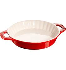 Pajform 24 cm röd 1,2 L