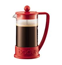 Brazil Kaffebryggare 3 koppar 35 cl Röd