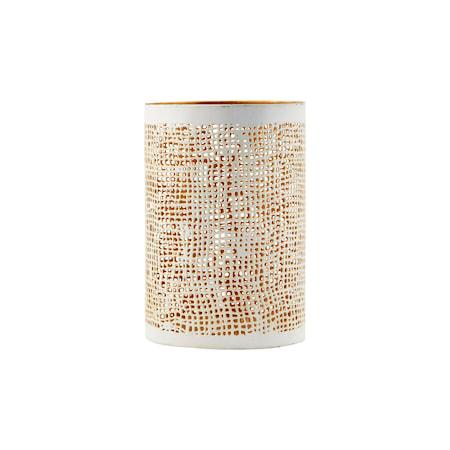 House Doctor Hessian tuikkulyhty valkoinen/kulta k12 cm