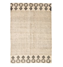 Hand woven jute cotton printed matta