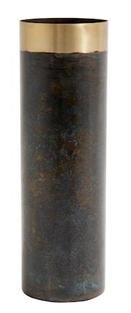 Bild av Nordal Patina vas med mässing 25 cm