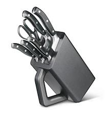 Knivblock, 6 del, smidda, Grand Mâitre