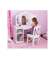 Deluxe vanity sminkbord & stol