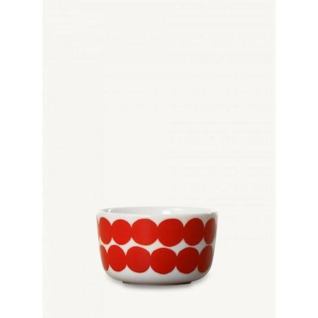 Marimekko Räsymatto skål 2,5 dl - Vit, röd
