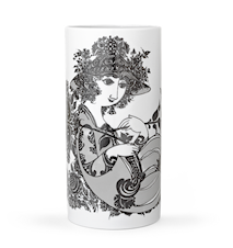 Vas, Olympia, grå, H 24 cm, cylinder