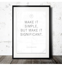 make it simple poster
