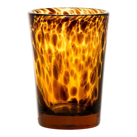 Bild av Bloomingville Ljuslykta Glas Brun 8,5x13 cm