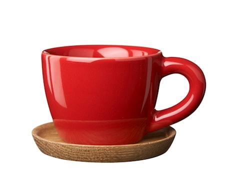 Höganäs Keramik HK Espressokopp 10 cl eplerød blank med trefat 377d8da80a754