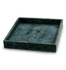Grön Marmorbricka med kant 30 x 30 cm