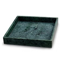 Vihreä Marmoritarjotin reunalla 30 x 30 cm