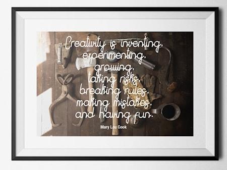 Creativity poster - 40x60