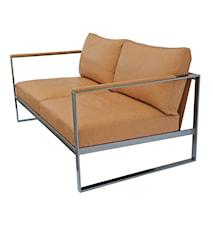 Monaco Lounge Soffa - 2-sits, grå ram