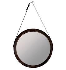 Spegel med rem Trä/Brun 45 cm