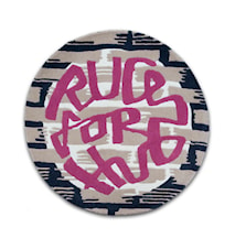 Rugs For Hugs matta 100 - Rosa/Svart