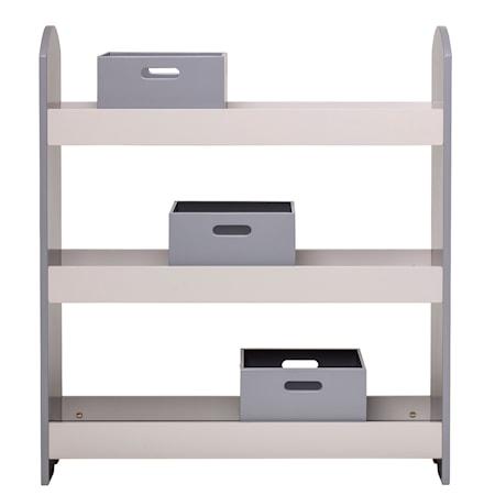 Köp Bokhylla med lådor Grey 640c216bd2f6d